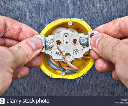 home electrical wiring outlet Installation of wall electric socket in yellow outlet, of domestic electrical wiring., Stock Home Electrical Wiring Outlet Best Installation Of Wall Electric Socket In Yellow Outlet, Of Domestic Electrical Wiring., Stock Collections
