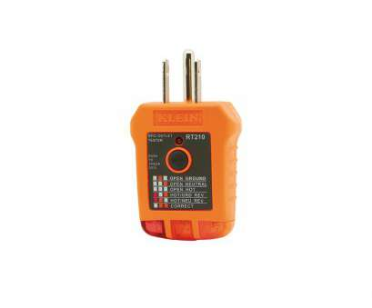 home electrical wiring tester Klein Tools RT210 GFCI Receptacle Tester Home Electrical Wiring Tester Top Klein Tools RT210 GFCI Receptacle Tester Galleries