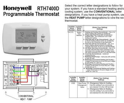 Honeywell Digital Thermostat Wiring Diagram For Th3110d1008 ... on