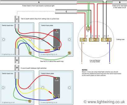how do u wire a two way switch Two, switching using, wire control (shown in, old cable colours) 14 Simple How Do U Wire A, Way Switch Collections