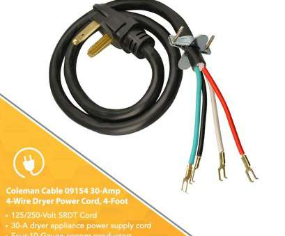 how many amps is 10 gauge wire good for Coleman Cable 4-Wire Dryer Power Cord (30-Amp, 4,, Replacement Clothes Dryer Power Cords, Amazon.com How Many Amps Is 10 Gauge Wire Good For Cleaver Coleman Cable 4-Wire Dryer Power Cord (30-Amp, 4,, Replacement Clothes Dryer Power Cords, Amazon.Com Pictures