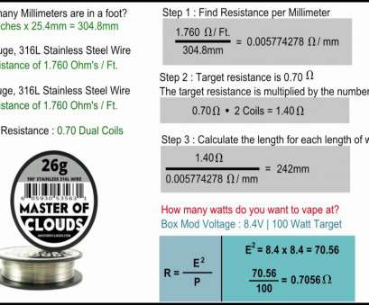 how strong is 26 gauge wire 316L Stainless Steel Coil Building, Hitting Your Target Resistance, YouTube 16 Practical How Strong Is 26 Gauge Wire Ideas