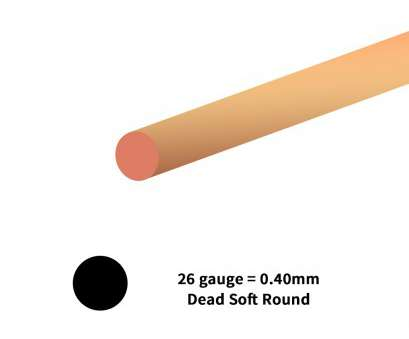 how strong is 26 gauge wire Copper Wire Dead Soft Round 26ga (20-Ft) How Strong Is 26 Gauge Wire Practical Copper Wire Dead Soft Round 26Ga (20-Ft) Collections