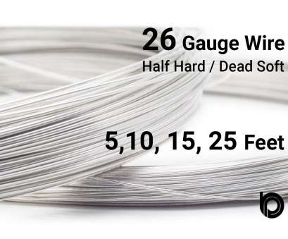 how strong is 26 gauge wire Sterling Silver Round Wire -- 26 Gauge Wire, Half Hard or Dead Soft Wire, Wholesale Price, Your Choice, 5,10,15,25 Feet How Strong Is 26 Gauge Wire Perfect Sterling Silver Round Wire -- 26 Gauge Wire, Half Hard Or Dead Soft Wire, Wholesale Price, Your Choice, 5,10,15,25 Feet Images