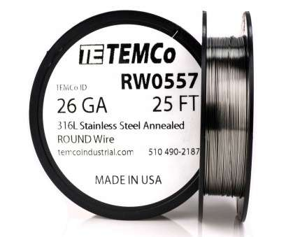 how strong is 26 gauge wire TEMCO STAINLESS STEEL Wire SS 316L, 26 Gauge 25 FT Non-Resistance How Strong Is 26 Gauge Wire Practical TEMCO STAINLESS STEEL Wire SS 316L, 26 Gauge 25 FT Non-Resistance Images