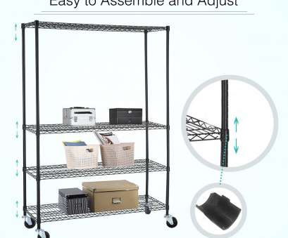 how to assemble wire shelving racks Details about SUNCOO 4 Tier L46*W18*H82 Layer Wire Shelving Rack Steel Shelf Heavy Duty Chrome How To Assemble Wire Shelving Racks Best Details About SUNCOO 4 Tier L46*W18*H82 Layer Wire Shelving Rack Steel Shelf Heavy Duty Chrome Ideas