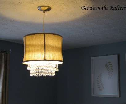 how to install a ceiling lamp shade Between, Rafters:, Drum Shade With Crystals Tutorial How To Install A Ceiling Lamp Shade Nice Between, Rafters:, Drum Shade With Crystals Tutorial Solutions