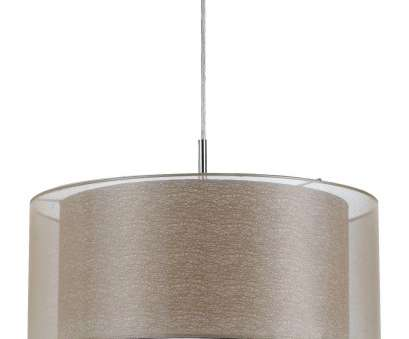 how to install a ceiling lamp shade Double Drum Sheer Pendant Light 18
