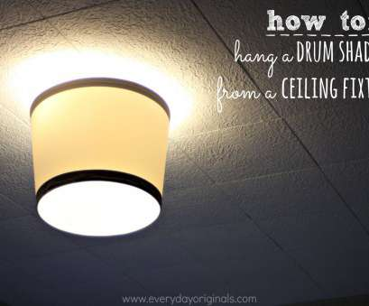 how to install a ceiling light shade how to hang a drum shade from a ceiling fixture How To Install A Ceiling Light Shade New How To Hang A Drum Shade From A Ceiling Fixture Pictures