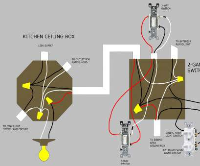 How To Install A, Ceiling Light, Switch Practical Diagram, Wiring A Ceiling, To Light Switch Refrence Wiring Diagram Ceiling, Light Two Ideas