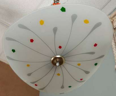 How To Install A Light Fixture In Germany New Circa 1980S German Light Fixture With Op, Styling In White Satin Glass With A Whimsical Collections