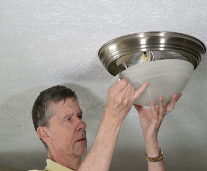 How To Install A Light Fixture Video New Senior, Replacing, Glass Cover On Ceiling Light Fixture After Replacing Incandescent Lightbulb With A Modern Energy Efficient, Bulb, Then Photos