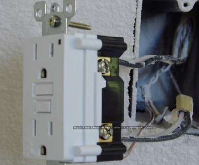 how to install an electrical outlet with 3 wires ... GFCI Feed Through Wiring 10 How To Install An Electrical Outlet With 3 Wires Best ... GFCI Feed Through Wiring 10 Photos