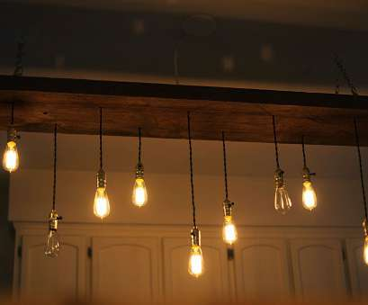 How To Install Ceiling Light Bulb Fantastic DIY Reclaimed Lumber Hanging Edison Bulb Chandelier, Unmaintained Galleries
