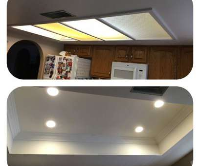 How To Install Ceiling Recessed Lights Creative Removal Of Tray Ceiling, Old Fluorescent Lighting. Installation Of Recessed, Lights, Accent Crown Molding. AZ Recessed Lighting Installation Collections