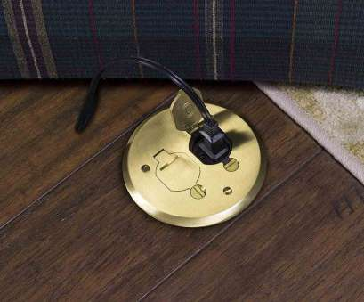 how to install electrical outlet in hardwood floor How to Install a Poke Through Electrical Floor Outlet 12 Perfect How To Install Electrical Outlet In Hardwood Floor Images