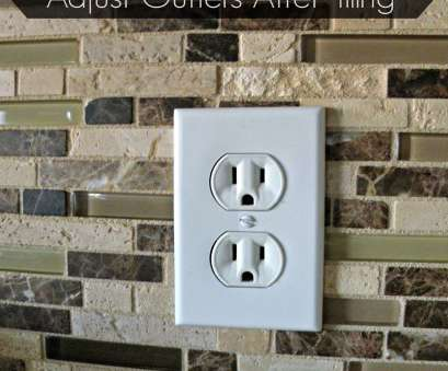 how to install electrical outlet in tile backsplash How To Adjust Outlets After Tiling How To Install Electrical Outlet In Tile Backsplash Top How To Adjust Outlets After Tiling Images