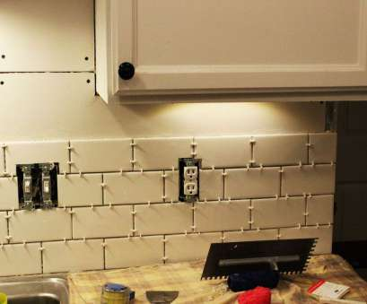 how to install electrical outlet in tile backsplash How to Install a Subway Tile Kitchen Backsplash How To Install Electrical Outlet In Tile Backsplash Practical How To Install A Subway Tile Kitchen Backsplash Photos