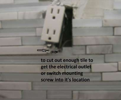 how to install electrical outlet in tile backsplash Tips, Tiling Around Electrical Outlets, Confessions Of A Tile How To Install Electrical Outlet In Tile Backsplash Perfect Tips, Tiling Around Electrical Outlets, Confessions Of A Tile Photos
