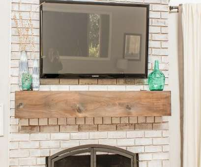 how to install electrical outlet over fireplace How to Mount a TV Over a Brick Fireplace (and Hide, Wires How To Install Electrical Outlet Over Fireplace Most How To Mount A TV Over A Brick Fireplace (And Hide, Wires Images