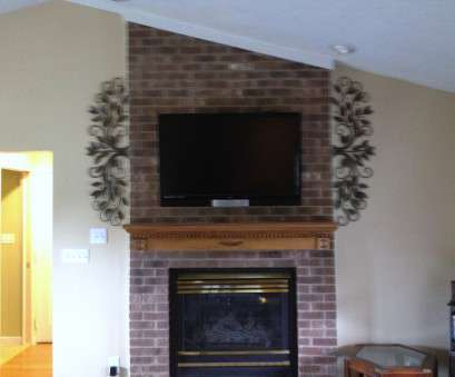 how to install electrical outlet over fireplace TV Mounting over a fireplace with wires concealed in, wall How To Install Electrical Outlet Over Fireplace Practical TV Mounting Over A Fireplace With Wires Concealed In, Wall Photos