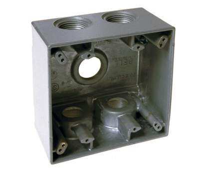how to install outdoor electrical outlet cover BELL Gray 2-Gang Weatherproof Deep, with Five, in. Threaded Outlets How To Install Outdoor Electrical Outlet Cover Professional BELL Gray 2-Gang Weatherproof Deep, With Five, In. Threaded Outlets Ideas