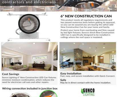 how to install recessed lighting in new construction Sunco Lighting 10 Pack 6
