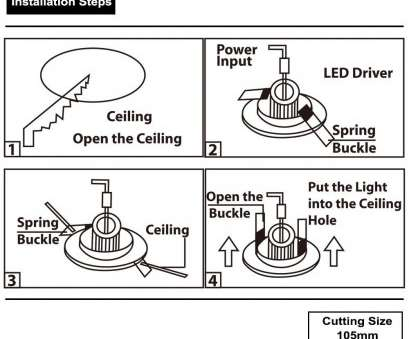 how to install recessed lighting step by step 12Watt 4-inch Dimmable Retrofit, Recessed Light Ceiling Light How To Install Recessed Lighting Step By Step Cleaver 12Watt 4-Inch Dimmable Retrofit, Recessed Light Ceiling Light Galleries