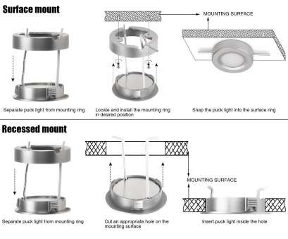 How To Install Recessed Puck Lights Perfect LED Under Cabinet Lighting, 2W Puck Lights Silver Whtie Finish Pictures