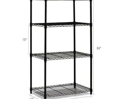 how to install wire shelves upside down Amazon.com: Furinno WS15004 Wayar Heavy Duty Wire Shelving System, 4-Tier, Black: Kitchen & Dining How To Install Wire Shelves Upside Down Simple Amazon.Com: Furinno WS15004 Wayar Heavy Duty Wire Shelving System, 4-Tier, Black: Kitchen & Dining Solutions