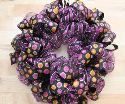 how to make a mesh ribbon wreath on wire frame Add, 1 1/2