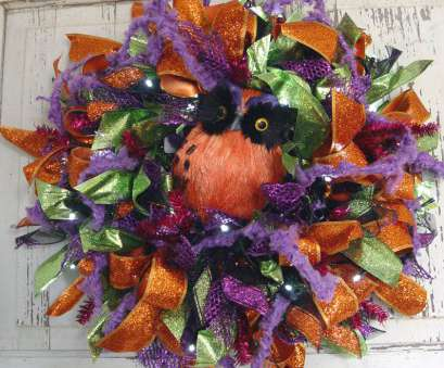 how to make a mesh ribbon wreath on wire frame Halloween Ribbon Wreath Tutorial, Trendy Tree Blog  Holiday Decor How To Make A Mesh Ribbon Wreath On Wire Frame New Halloween Ribbon Wreath Tutorial, Trendy Tree Blog  Holiday Decor Pictures