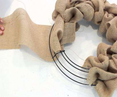 how to make a mesh ribbon wreath on wire frame How to make a Burlap Wreath, 2 Minute Tutorial How To Make A Mesh Ribbon Wreath On Wire Frame Nice How To Make A Burlap Wreath, 2 Minute Tutorial Photos