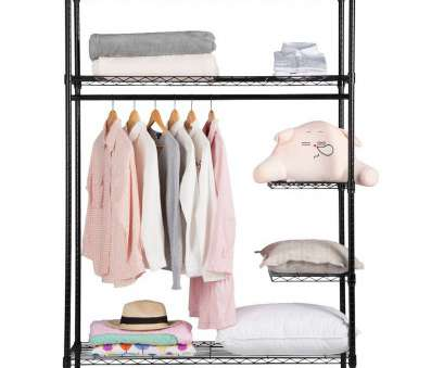 how to reinforce wire closet shelving Heavy Duty, Closet Garment Rack, LANGRIA How To Reinforce Wire Closet Shelving Fantastic Heavy Duty, Closet Garment Rack, LANGRIA Solutions