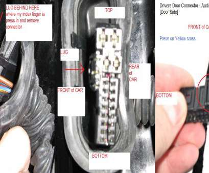how to remove electrical wire connectors How do I unplug drivers door wiring loom from, car body How To Remove Electrical Wire Connectors Practical How Do I Unplug Drivers Door Wiring Loom From, Car Body Images