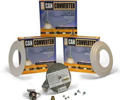 how to replace ceiling fan with can light Light Recessed Beveled/Flat Canopy Converter R56-WHTFB Conversion, for 5