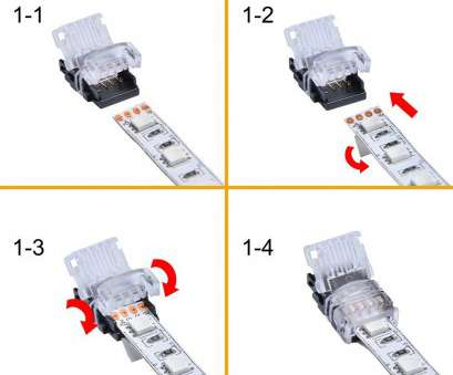 how to strip 22 gauge wire RGB, Strip Connector, 4, With Extension Wire UL Listed, Feet/3 Meter 22 Gauge 4 Conductor,, Both Strip to Power Lead, Strip to Strip 13 Nice How To Strip 22 Gauge Wire Ideas