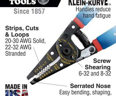 how to strip 22 gauge wire Wire Stripper, Cutter, 20-30, Solid Wire, 22-32, Stranded Wire Klein Tools 11057, Amazon.com How To Strip 22 Gauge Wire Professional Wire Stripper, Cutter, 20-30, Solid Wire, 22-32, Stranded Wire Klein Tools 11057, Amazon.Com Images