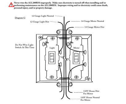 how to wire a 110v light switch Step 8, Aladdin Light Lift ALL200RM-CM User Manual, Page, 22 How To Wire A 110V Light Switch Professional Step 8, Aladdin Light Lift ALL200RM-CM User Manual, Page, 22 Pictures