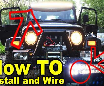 how to wire a 52 inch light bar Install 50 Inch, Lightbar on a Jeep Wrangler TJ -, To How To Wire A 52 Inch Light Bar Professional Install 50 Inch, Lightbar On A Jeep Wrangler TJ -, To Images