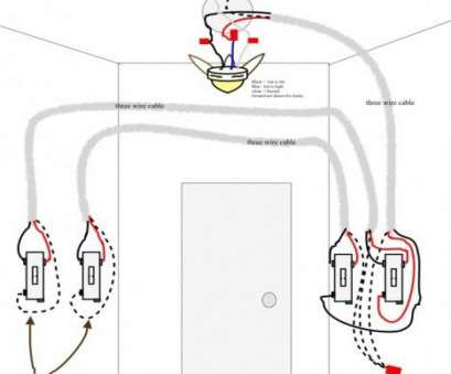 8 Most How To Wire A Ceiling, Light On A Three, Switch Images