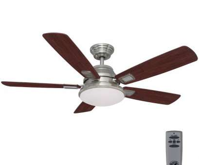 how to wire a ceiling fan with light kit and remote Hampton, Latham 52, LED Indoor Brushed Nickel Ceiling, with Light, and Remote Control How To Wire A Ceiling, With Light, And Remote Brilliant Hampton, Latham 52, LED Indoor Brushed Nickel Ceiling, With Light, And Remote Control Pictures