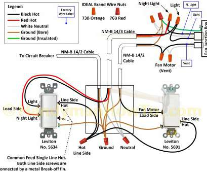 how to wire a ceiling fan with light kit and two switches Double Light Switch Wiring Diagram, How to Wire A Light with, Switches Switch Diagram How To Wire A Ceiling, With Light, And, Switches Brilliant Double Light Switch Wiring Diagram, How To Wire A Light With, Switches Switch Diagram Collections