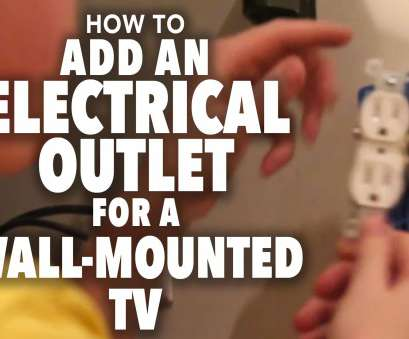 how to wire a new electrical outlet from an existing one How to, an Electrical Outlet, a Wall Mounted TV How To Wire A, Electrical Outlet From An Existing One Professional How To, An Electrical Outlet, A Wall Mounted TV Pictures