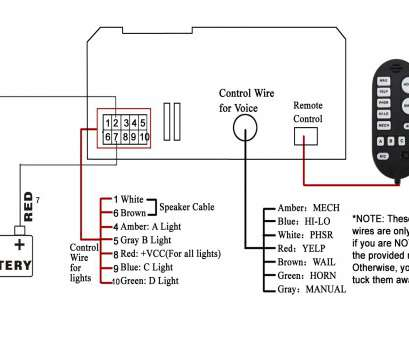 wiring diagram wire center � how to wire a emergency light bar  brilliant 100 watt wail police, emergency vehicle siren