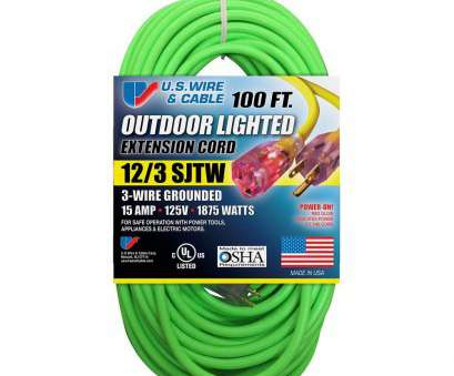 how to wire a fluorescent light to an extension cord U.S. Wire & Cable, ft. 12/3 Fluorescent Lighted Extension Cord, Green How To Wire A Fluorescent Light To An Extension Cord Professional U.S. Wire & Cable, Ft. 12/3 Fluorescent Lighted Extension Cord, Green Galleries