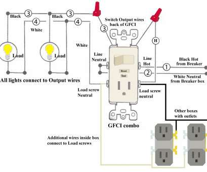 how to wire a gfci light switch combo wiring diagram, light switch, outlet combo, rated wiring rh joescablecar com 10 Creative How To Wire A Gfci Light Switch Combo Pictures