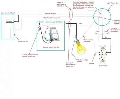 How To Wire A Hall, Landing Light Switch Simple Wiring ... Hallway Light Switch Wiring Diagrams on