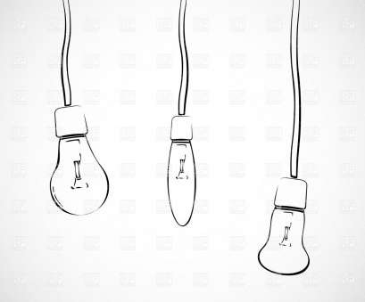 how to wire a hanging light bulb Three hand drawn light bulbs hanging on wires Vector Image, Vector Artwork of Objects © Click to Zoom 14 Most How To Wire A Hanging Light Bulb Galleries