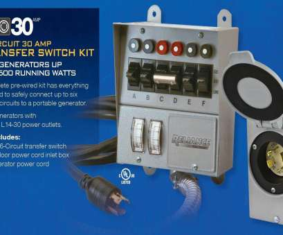 how to wire a home generator transfer switch Reliance Controls Corporation 31406CRK 30, 6-circuit Pro/Tran Transfer Switch, for Generators (7500 Watts) How To Wire A Home Generator Transfer Switch Best Reliance Controls Corporation 31406CRK 30, 6-Circuit Pro/Tran Transfer Switch, For Generators (7500 Watts) Ideas